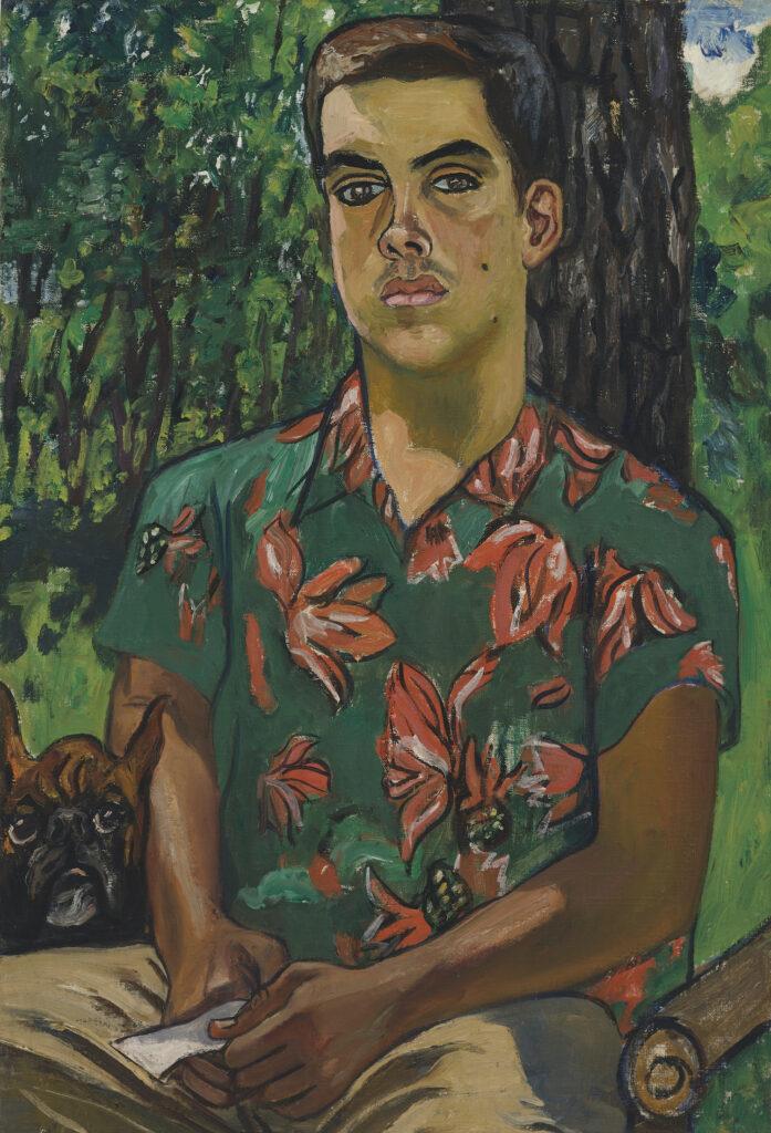 Alice Neel,Richard With Dog, 1954