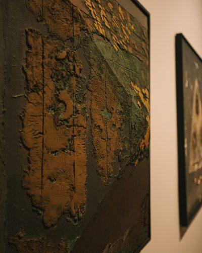 Ahmad Sadali, 'Gunungan Emas (The Golden Mountain)' (detail), 1980. (Image Courtesy of Singapore Art Museum)